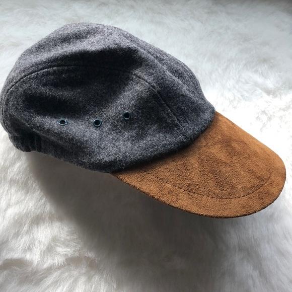 0d6291f9b 💯 % wool & suede biking hunting cap